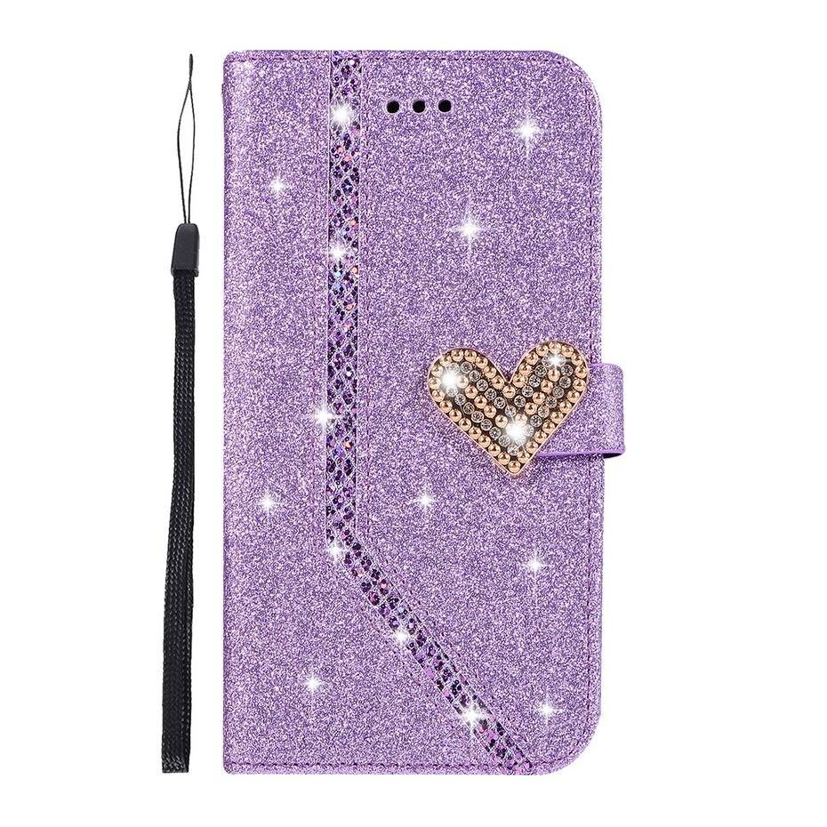 , Glittering Flip PU Leather Phone Case For Samsung Galaxy J4 Plus Case For Samsung Galaxy J4 Plus 2018 J415F J415 SM-J415F Case