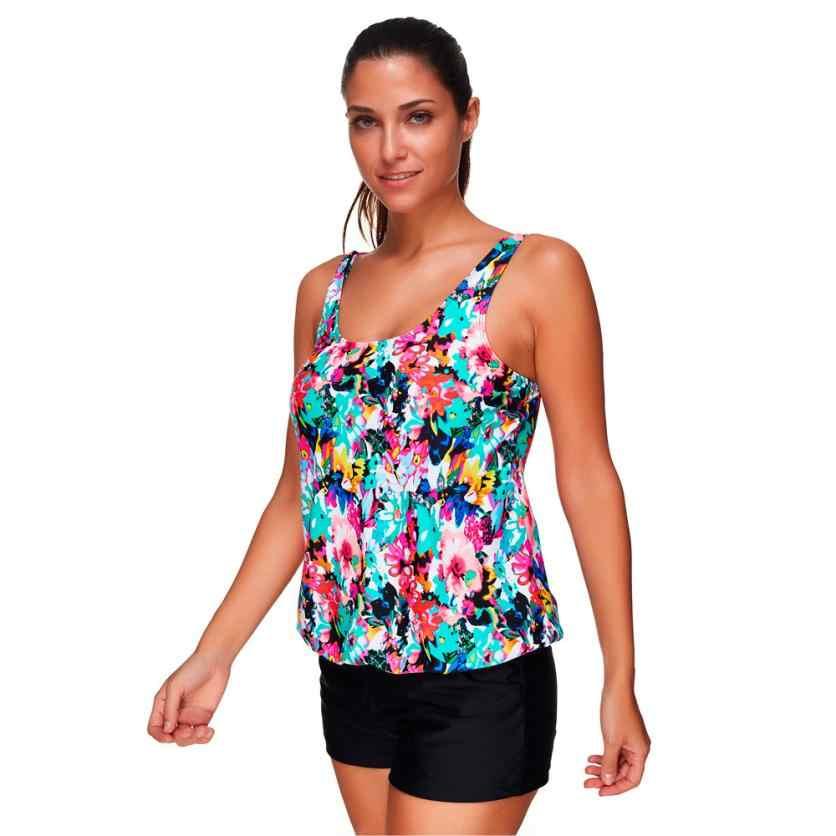 Новая купальная одежда комбинезоны Для женщин с трусы шортики женские купальники купальный костюм из двух предметов размер купальника, гимнастического костюма Jan3