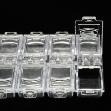 1 Case 12 Slots White Clear Storage Box Empty Container For Nail Art Gems Jewelry Decoration Container Glitter Nail Tools SA338