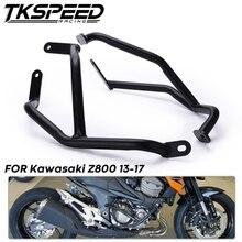 Para Kawasaki Z800 Motocicleta Frente Barras de Guarda Motor Bater Protector Quadro para Carros 2013 2014 2015 2016