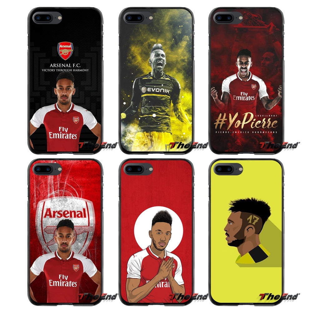 For Apple iPhone 4 4S 5 5S 5C SE 6 6S 7 8 Plus X iPod Touch 4 5 6 Emerick Aubameyang Accessories Phone Cases Covers