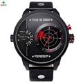 Real Scanning Radar Homens Sport Watch LED Digital Analógico Rodada Relógio de Pulso Masculino Moda À Prova D' Água relógio de Quartzo Relógio Do Esporte Dos Homens
