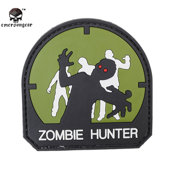 Buy zombie hunter morale patch (black) online at low price.