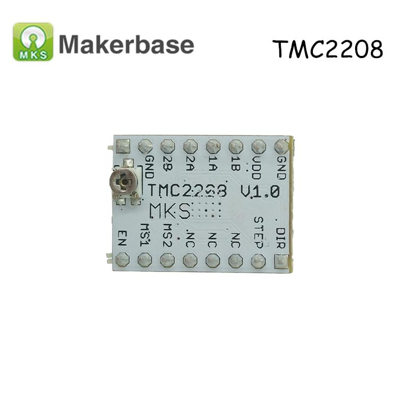 все цены на Original Ultra-Silent Step Stick MKS TMC2208 Stepper Motor Driver Module Stepstick for 3D Printer Controller Board MKS Gen онлайн