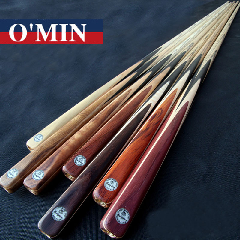 O min One Piece Snooker Cues Enlighten Model 9 8mm Tips Single Snooker Cues Case Set