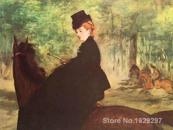 Paintings for living room wall The Horsewoman Edouard Manet High quality Hand painted
