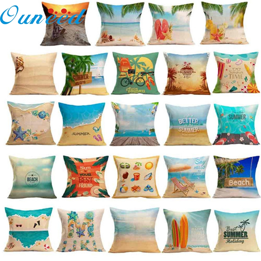 zero summer beach sofa bed home decoration pillow case cushi