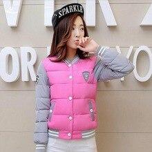 2017 New Winter Jacket Women Korea Uniform Warm Jackets Girls Cotton Warm Coat Female Parkas Plus Size Casual Basic Jacket BN016