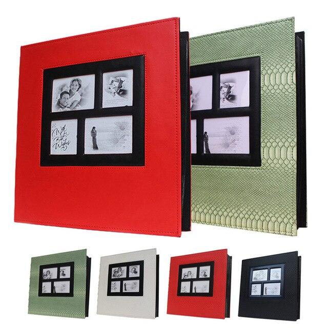 Aliexpress Com Buy High Capacity Pu Leather Interleaf Photo Album