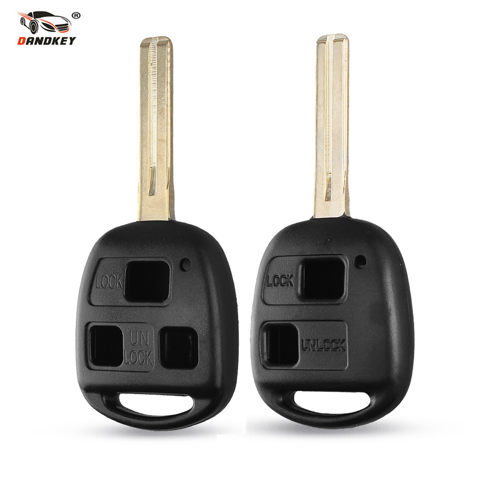 Dandkey 2/3 Buttons Remote Fob Case Replacement Car Key Shell Case Cover For Toyota Lexus RX300 ES300 CAMRY RAV4 Corolla PRADO