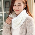 fashion Winter Unisex knitted Scarves Wool Collar Neck Warmer Woman and Men Crochet Ring Spain Loop Scarf