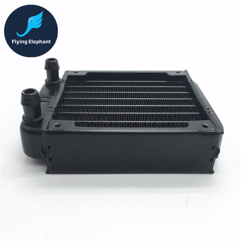 Full Aluminum 80mm 90mm Water Cooling Radiator 8 Channels CPU-80 For computer Chip CPU GPU VGA RAM system Heat Exchange мужская цепь магия золота золотая цепочка mg26035 65