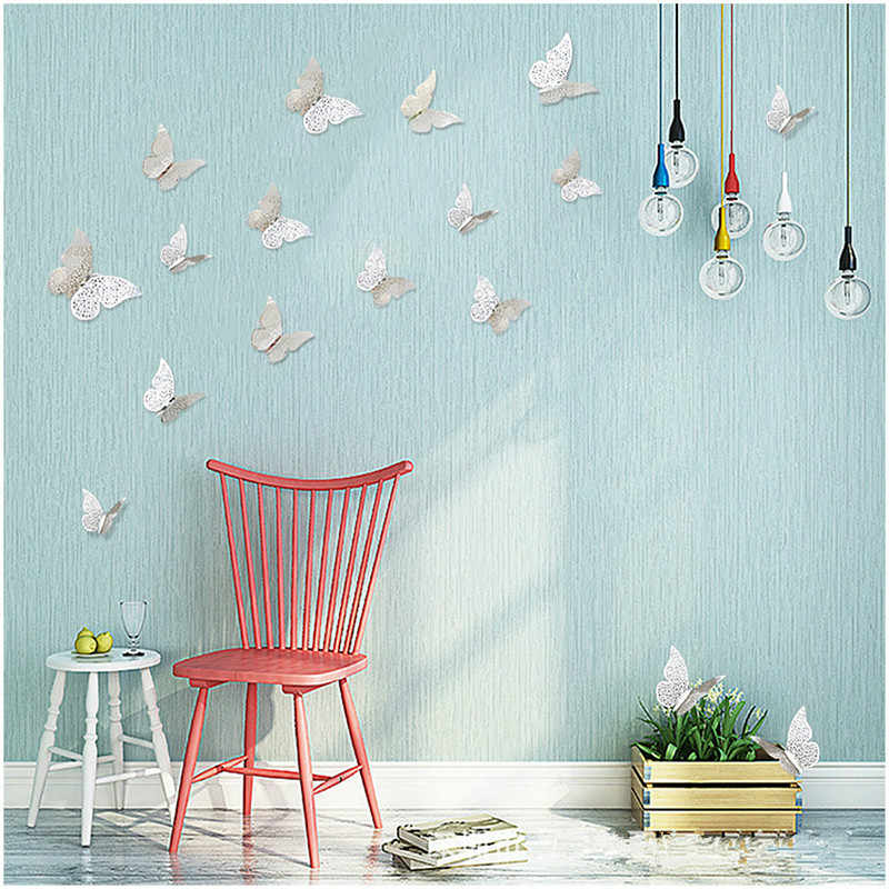 12pcs Gold/silver 3D Simulation Butterfly Decoration Wall Stickers Mr Mrs Wedding DIY Decoration Birthday Party Favors Supplies