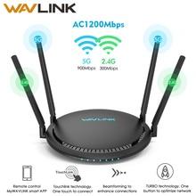 Wavlink AC1200 Router WiFi Gigabit 5Ghz extensor WiFi de 2,4 Ghz WiFi repetidor 1200Mbps 4x5dBi Touchlink Smart Dual -banda