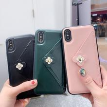 Women Fashion PU Leather Case For iPhone XS X XR XS MAX Phone Case For iPhone 7 8 6 6S Plus Flower Wallet Strap Shell Coque цена в Москве и Питере