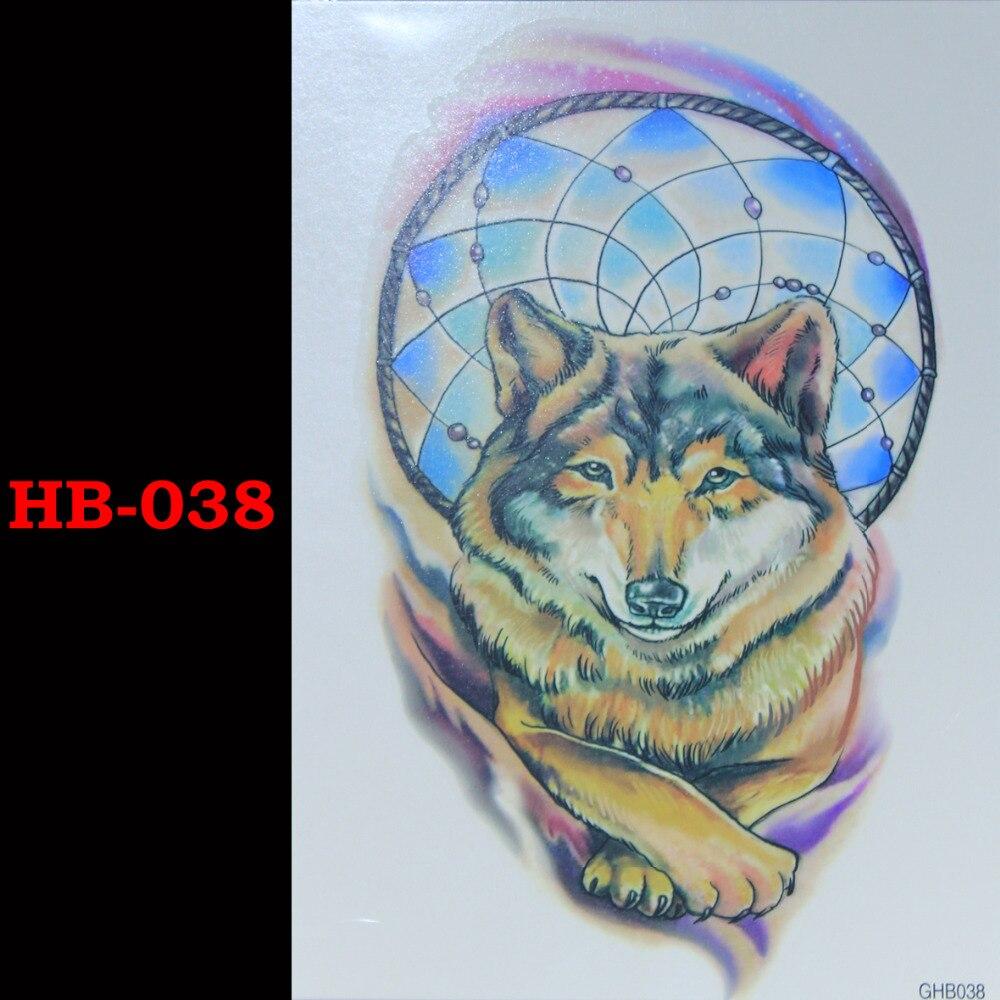 Wolf Temporary Tatto Waterproof Men Women 3D Tattoo Arm Sticker Fake Arm Sleeve Body Tattoo Shoulder Tattoos