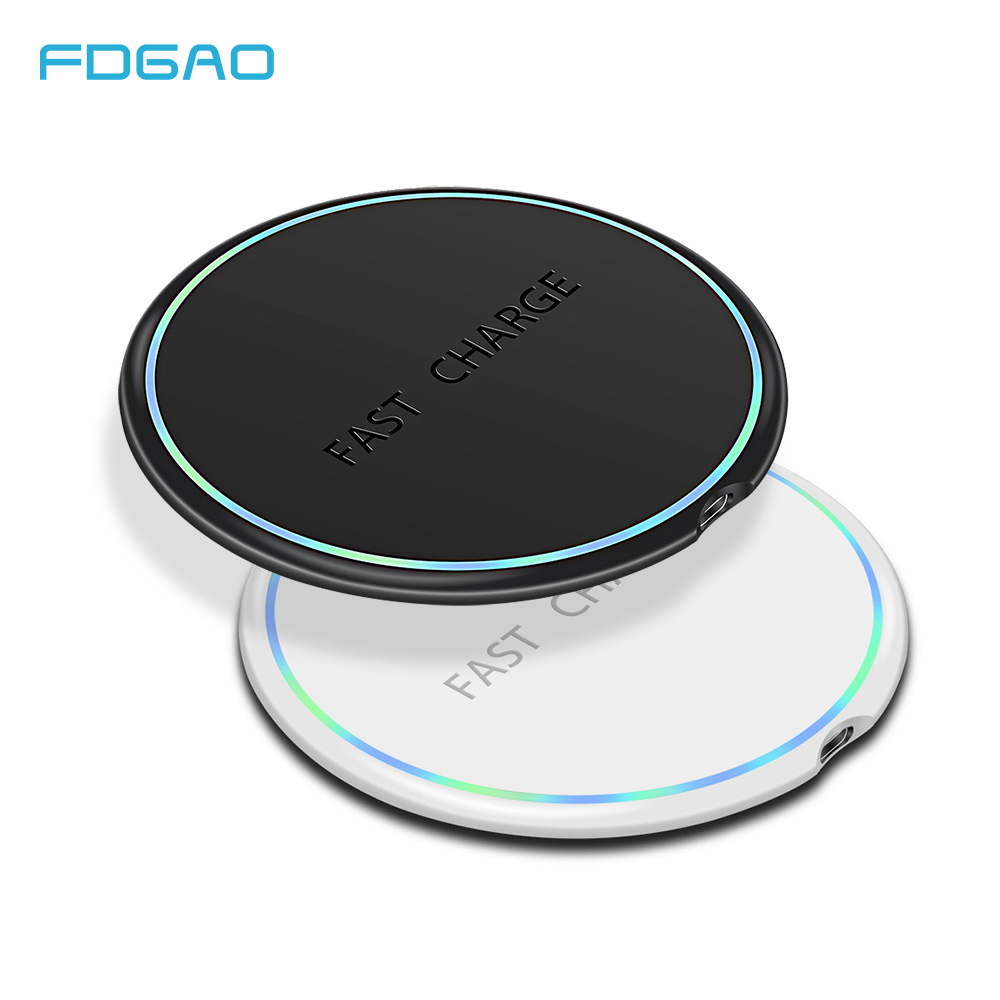 FDGAO 10W Wireless Charger Charging Pad USB Fast Charger For IPhone X XS MAX XR 8 For Samsung Galaxy S9 S8 Note 8 9 S6 S7 Edge