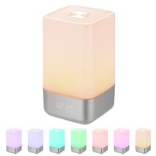 Wake Up Light Alarm Clock Sunrise Simulation Digital Clock USB Rechargeable LED Digital Alarm Table Clock Colorful Night Light