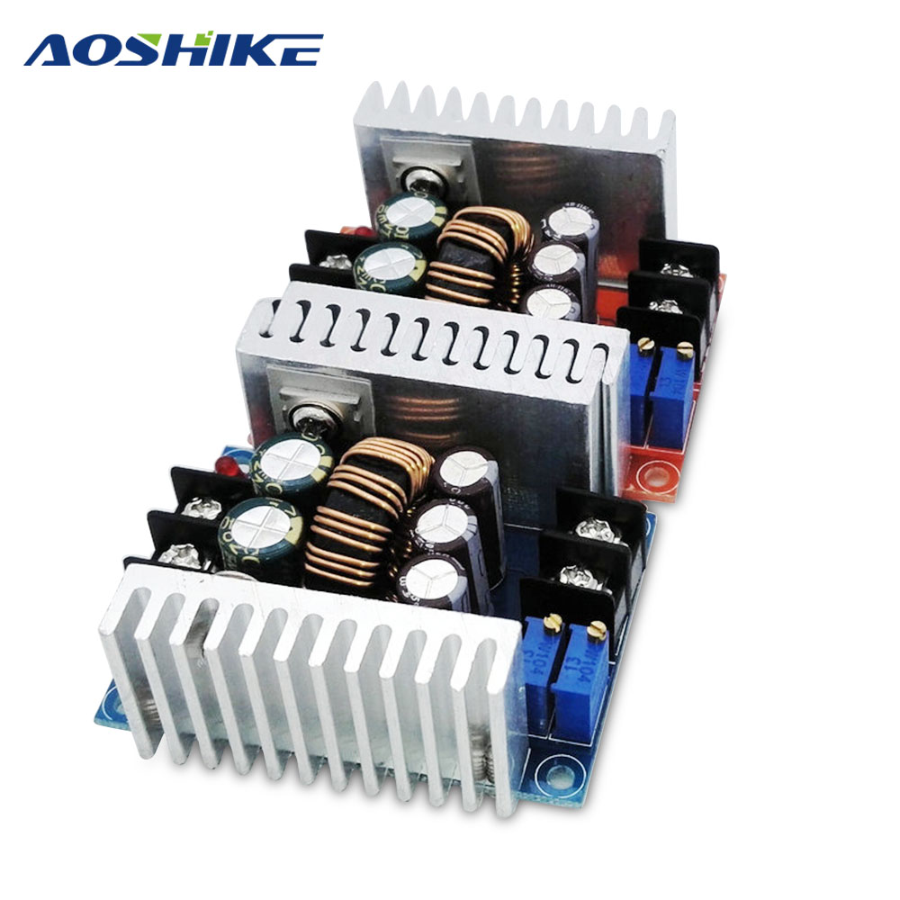 Aoshike 300W 20A Step-Down Boost Constant Voltage Constant Current Power Module LED Charging Drive Board Step Down Voltage