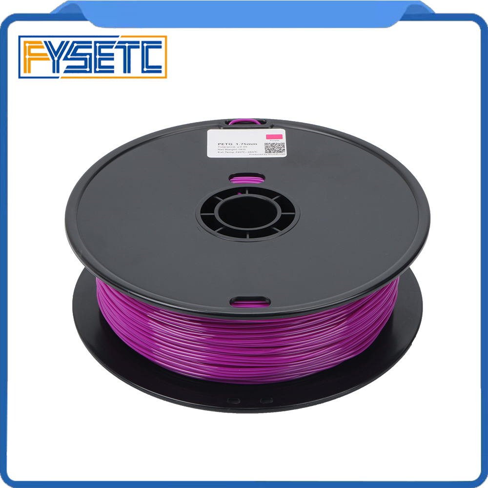PETG Filament 1.75mm 1kg/2.2lbs Top Quality Purple Color Printing Materials 1.75 PETG Filament For 3D Printer/3D Pen VS ABS/PLA high quality smooth pla materials 1 75 mm 3d print filament for 3d printer or 3d printing pen pla filament free shipping