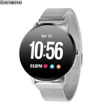 SENBONO Bluetooth Smart watch V11 IP67 Waterproof Activity Fitness tracker  Heart rate Monitor