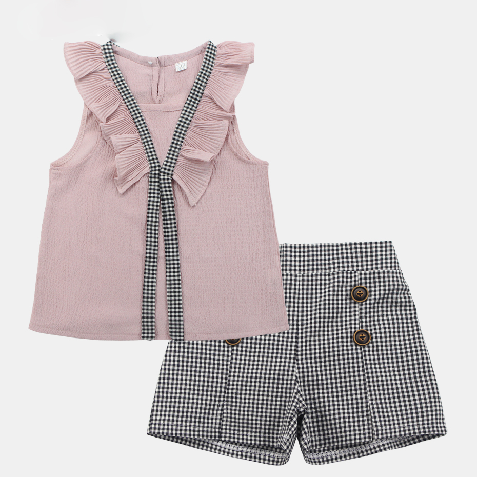 Summer time Clothes For Ladies 2019 Teen Ladies Clothes 6 8 12 Years Youngsters Garments Informal Youngsters Costume 2 Pcs Plaid Youngsters Clothes Clothes Units, Low cost Clothes Units,...