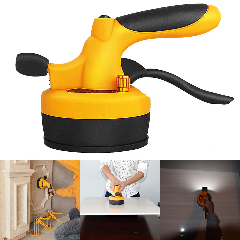 Tile Professional Tiling Tool Machine Vibrator Suction Cup Adjustable For 60X60cm HVR88