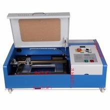 Цифровой 3020 деревообрабатывающий 40 Вт гравировальный станок CO2 лазер USB с обновленной панелью управления