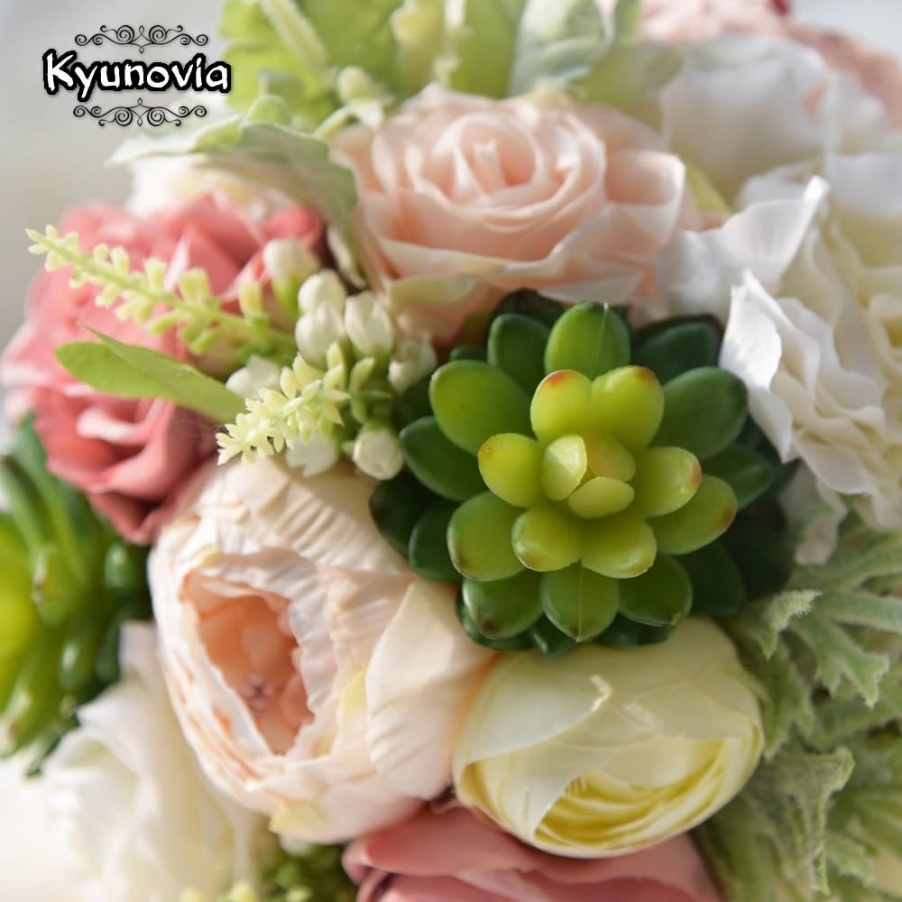 Aliexpress Buy Kyunovia Succulent Plants Bouquet Chic Wedding