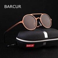 2017 BARCUR Retro Aluminum Magnesium Sunglasses Polarized Lens Vintage Eyewear Accessories Sun Glasses Driving Men