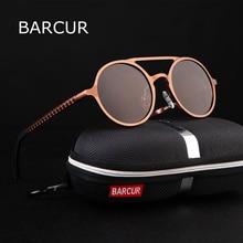 BARCUR Retro Aluminum Magnesium Sunglasses Polarized Vintage