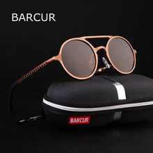 BARCUR Retro Aluminum Magnesium Sunglasses Polarized Vintage Eyewear A