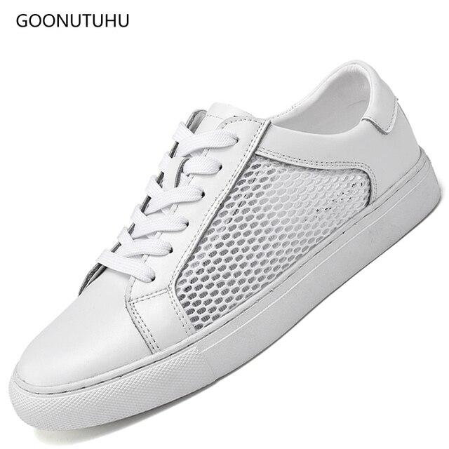 43869a90b49 Zapatos de moda de verano para hombre zapatos de cuero genuinos casuales para  hombre jóvenes estudiantes