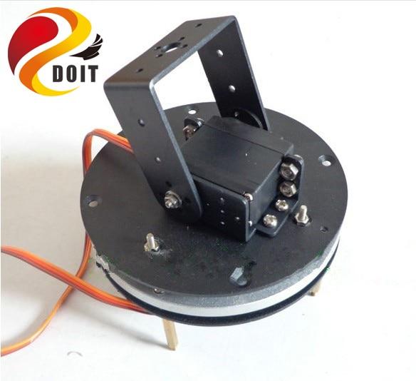 DOIT 2 DOF Robot Arm Steering Gear Disc Robotic Manipulator Servo Turntable Base Frame Robotic Arm Base Toy 2 dof robot arm parts servo turntable base frame mg995 servo 2 gimbal robotic arm base for arduin0