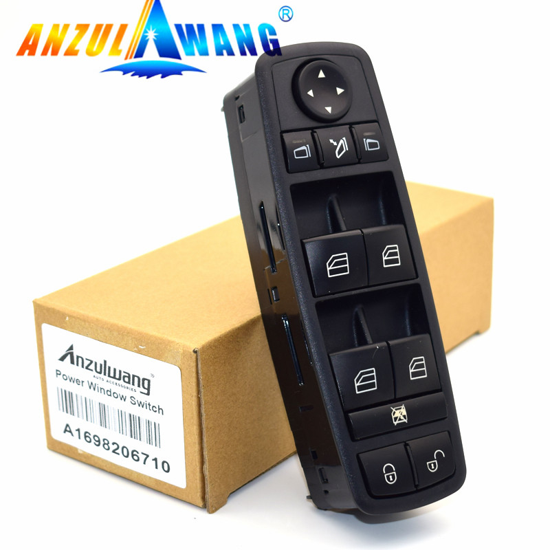 1 Pcs For Mercedes-Benz B-Klasse W245 W169 A-Klasse A1698206710, <font><b>1698206710</b></font>, A 169 820 67 10 Power Window lock Switch Fits image