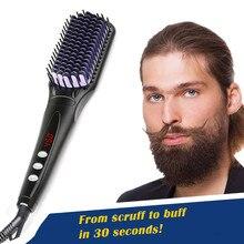 2.0 Hair Straightener Brush Anti Static Ceramic Heating Deta