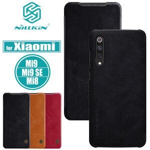 Image 1 - Nilkin pour Xiaomi Mi 9 8 SE couverture Nillkin rétro luxe PU étui en cuir pour téléphone intelligent pour Xiaomi Mi9 Mi8 SE Capa