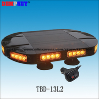 TBD 13L2 Emergency LED Mini Lightbar/DC12 or 24V Amber Warning Lightbar/magnet bracket led mini flashing lightbar