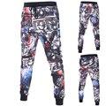 Многоцветные печатные тощие бегунов штаны мужчины мода прохладный мужчины брюки-карго новый спортивные штаны Шнурок Карандаш брюки D027