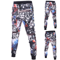 Multicolor printed skinny joggers sweatpants men fashion cool men cargo pants novelty track pants Drawstring Pencil pants D027