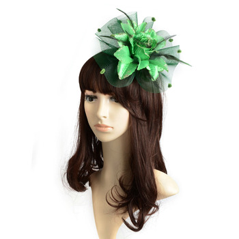 Hot Ladies fascinator flower feather sinamay fasinator women hair accessories elegant fascinators for wedding Races Tovenaar image