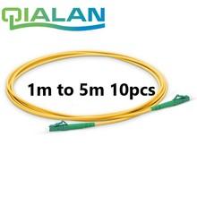 Fibra óptica Patchcord 10 pcs 1 m para 5 m APC LC para LC APC Fibra Óptica Patch Cord Simplex 2.0 milímetros G657A PVC Único Modo de Cabo de Ligação Em Ponte