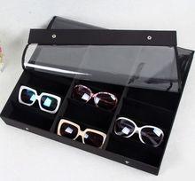 Desktop 18 шт. Очки Очки Очки-Дисплей Лоток Хранения Часы Организатор Box