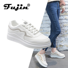 FUJIN Brand Women Flats Casual Shoes Sneakers Spring Autumn Female Lace Up Comfortable for