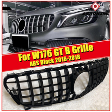 W176 A45 look grille grill ABS gloss Black & Chrome without sign For MercedesMB A Class A180 A200 A250 Sports GTS grills 2016-in