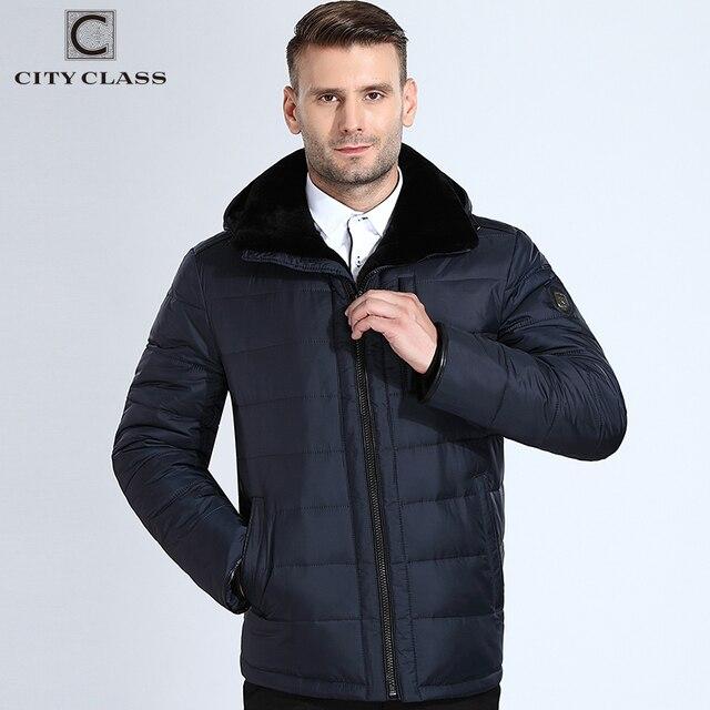 City Class зимние натуальный мутон Куртки и пуховики для Мужчины, съемный капюшон, короткий пилот, теплые парки, Модные био Пух пуховик, меховой вотриник, качественная работа, jaqueta masculina Inverno 16808