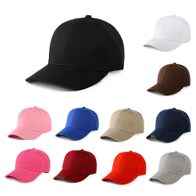 Unisex Black Casquette Solid Color Baseball Cap Men Women Cotton Casual Snapbcak Hats Outdoor Dad Size Adjustable