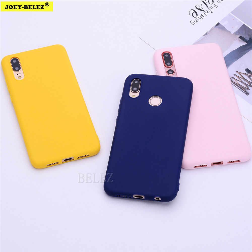 Weiche TPU Candy Farbe Telefon Fall Für Huawei P30 P20 Mate 20 Pro Lite P Smart Nova 4 Ehre 8C 8X Max 7A 7C Y5 Y6 2018 Y9 2019 Fall
