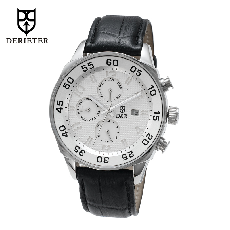Stainless Steel Sports Watch Chronograph Wristwatch Waterproof Japan Movement Wrist Watch Leather Strap for Men and Women hanriver 2018 medical wrist wrist fracture rehabilitation movement sprain support fixed splint for both men and women