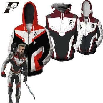 marvel the Avengers Endgame 3d hoodie sweatshirt Cosplay Superhero Captain America Iron Man streetwear End game Unisex clothes
